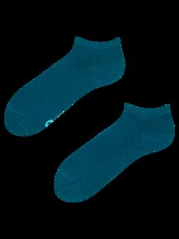 Bambusové členkové ponožky Petrolejovo modré
