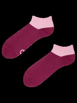 Bordově růžové kotníkové ponožky Symfonie