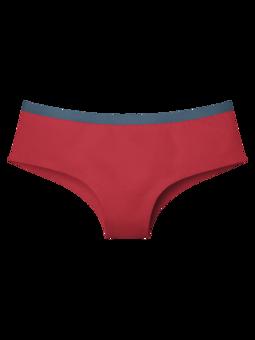 Červené dámské kalhotky hipster