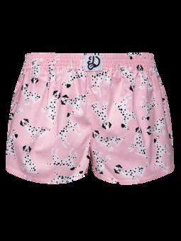 Veselé dámske trenky Ružové dalmatínce
