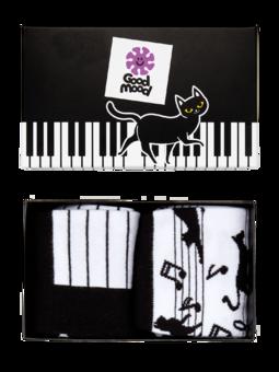 Coffret cadeau Chat jouant au piano