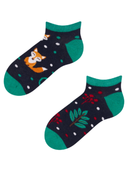 Veselé dětské kotníkové ponožky Rezavá liška