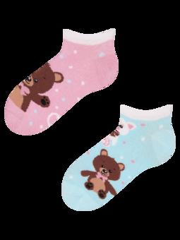 Veselé detské členkové ponožky Medvedík