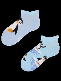 Veselé dětské kotníkové ponožky Šťastný tučňák
