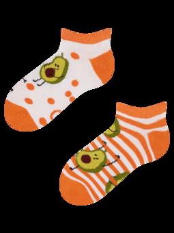 Veselé dětské kotníkové ponožky Vtipné avokádo