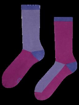 Fialovo-modré športové ponožky