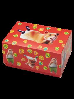 Klasična darilna škatla Dedolesovi hrčki