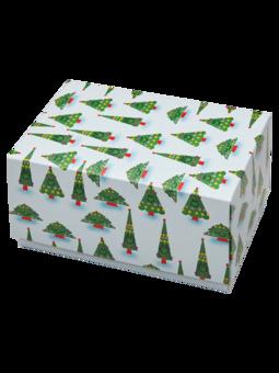 Klasická dárková krabička Vánoční stromek