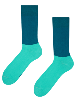 Modro-turkizne nogavice Ravnotežje