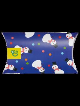 Овална кутия за подарък Бой със снежни топки