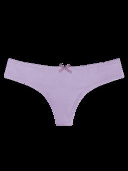 Pastelově fialové dámské brazilské kalhotky