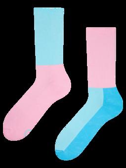 Ružovo-modré športové ponožky