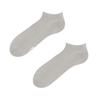 Calcetines tobilleros grises de bambú