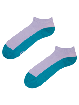 Smaragdgrüne Knöchelsocken Fußabdruck