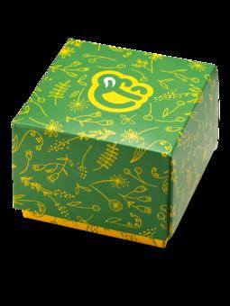 Čtvercová dárková krabička Jarní květy