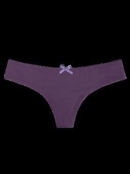 Damskie figi brazylijskie ciemnofioletowe