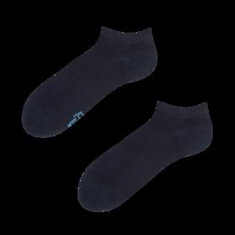 Socquettes bleu foncé en fibres de bambou