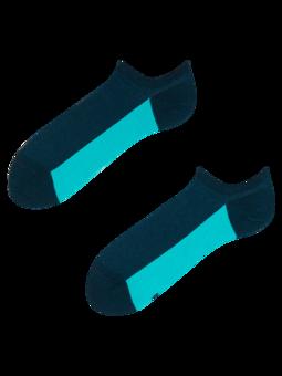 Granatowe skarpetki do sneakersów Pięta