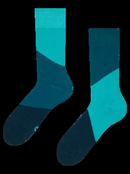 Tyrkysové ponožky Cik-cak