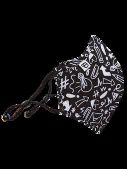 Živahna protibakterijska zaščitna maska Čačke - večja velikost