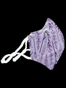 Vrolijke antibacterieel mondkapje Lavendel - grote maat
