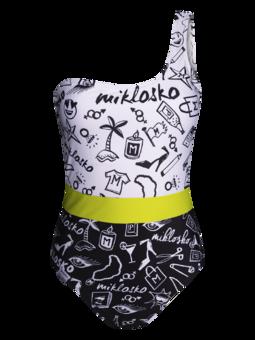 Veseli ženski jednodijelni kupaći kostim Miklosko i Dedoles