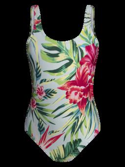Women's One-piece Swimsuit Tropical Flowers