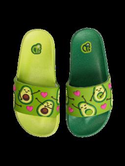 Veselé dětské pantofle Avokádová láska