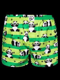 Vrolijke heren boxershorts Panda & strepen