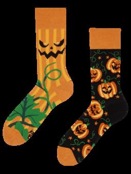 Vrolijke sokken Halloween pompoen