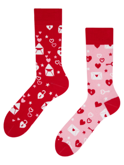 Veselé ponožky Ľúbostné listy