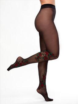 Lustige Nylonstrumpfhosen Rote Rosen