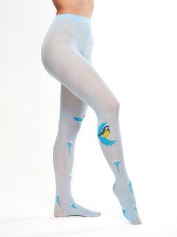 Vesele hlačne nogavice Zimska ptica