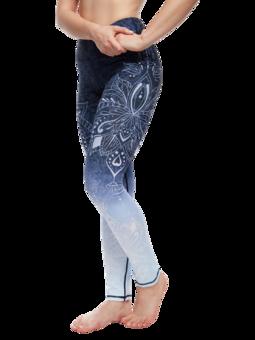 Wesołe legginsy treningowe mandala ombre