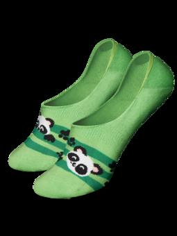 Živahne skrite nizke nogavice Panda in črte