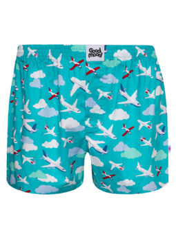 Men's Boxer Shorts Airplanes & Clouds