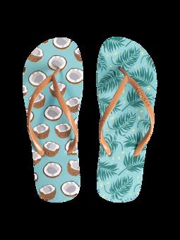 Lustige Flip-Flops Kokosnuss