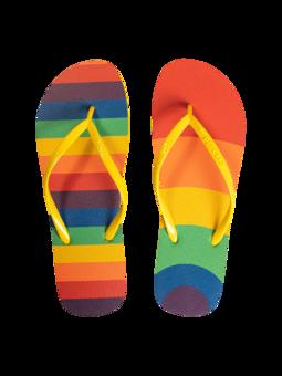 Infradito Buonumore Righe arcobaleno