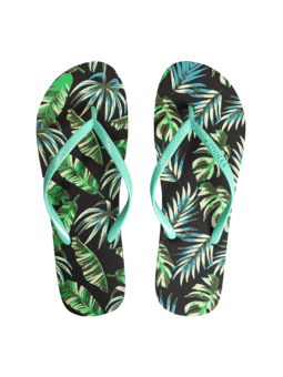 Șlapi Veseli Frunze tropicale