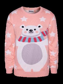 Veseli božični pulover Medved in zvezde