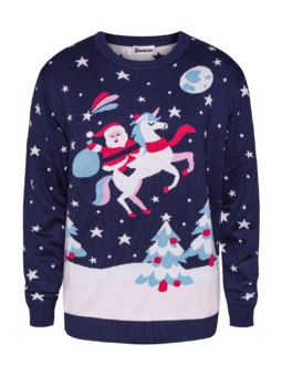 Christmas Sweater Santa & Unicorn