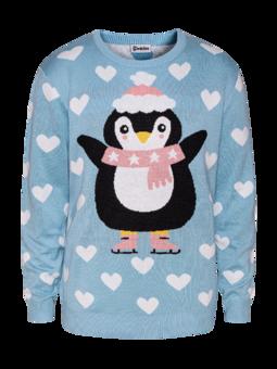 Maglione di Natale Buonumore Pinguino sui Pattini