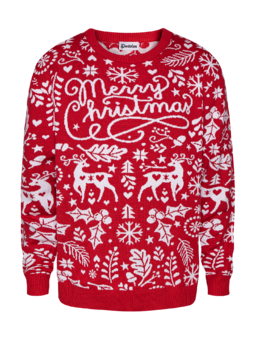 Wesoły sweter świąteczny Wesołych świąt