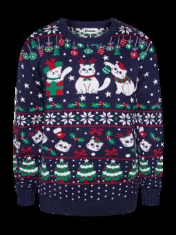 Maglione di Natale Buonumore Gatti natalizi