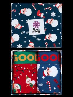 Coffret cadeau plein de boxers pour hommes - Noël