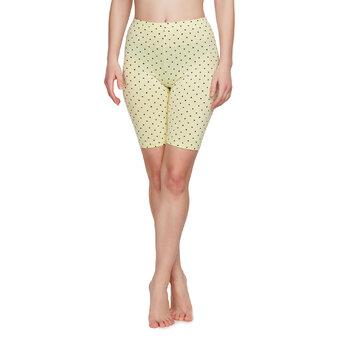 Shorts da ciclista di cotone Gialli a Puntini