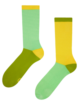 Yellow & Green Sports Socks