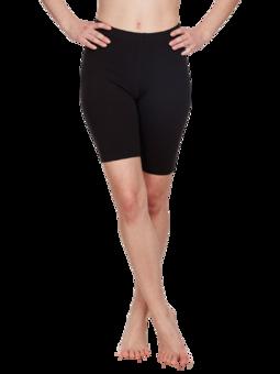 Short cycliste en coton noir