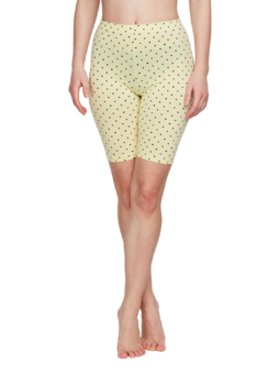Yellow Cycling Shorts Dots