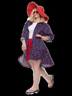 Veselé košilové šaty Třešně